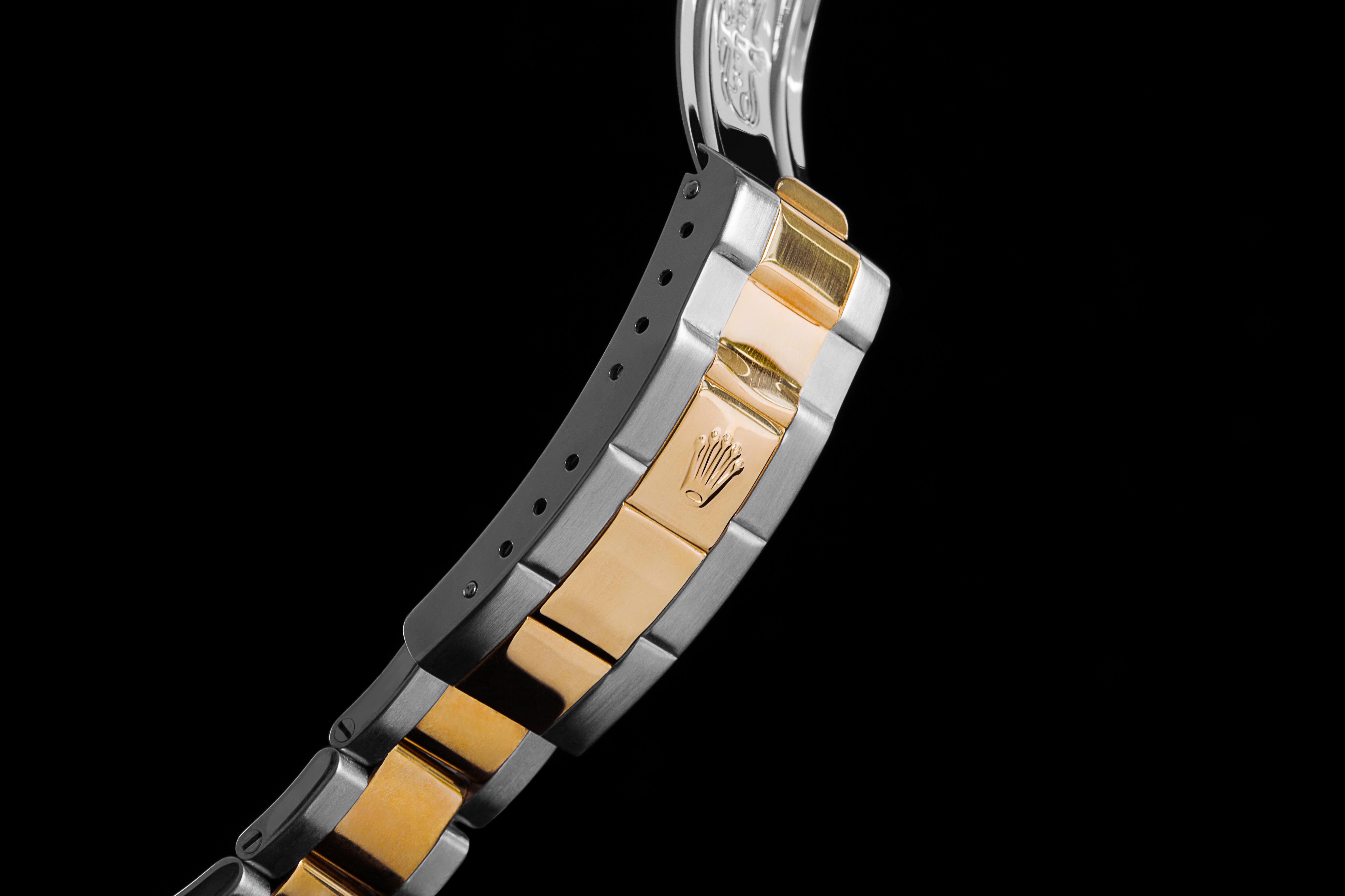 Fermoir Rolex en or et acier