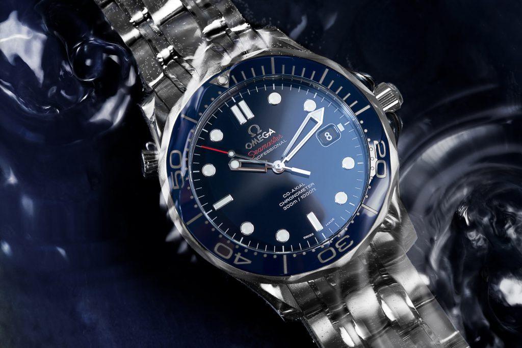 Omega Seamaster Diver 300M watch under water