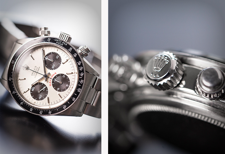 Rolex-Daytona 6263 - One of the Models Paul Newman owned till his dead - crown and dial