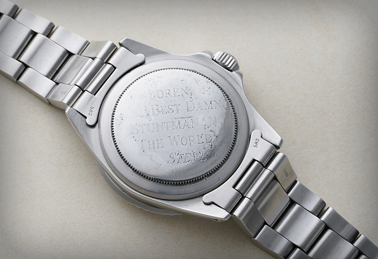 La Rolex Submariner de Steve McQueen 5513- arrière de la montre