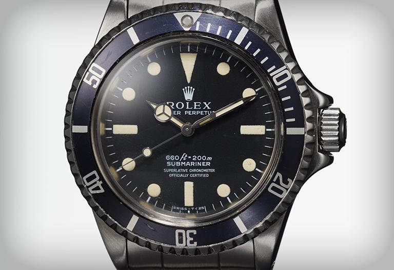 La Rolex Submariner de Steve McQueen - vue de face