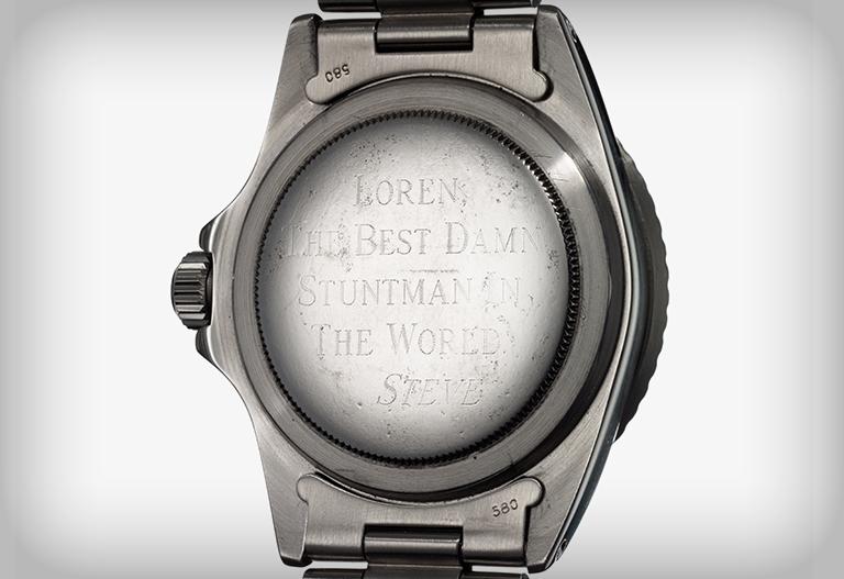 Steve McQueen Rolex Submariner 5513 - arrière de la montre