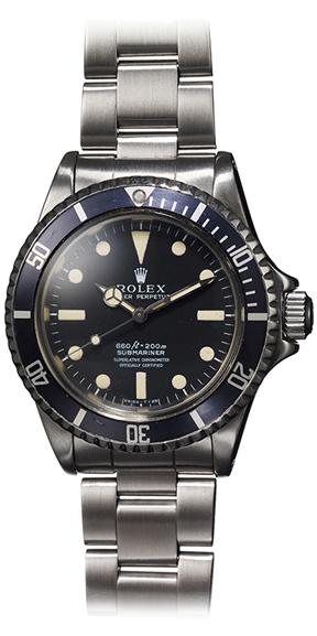 Steve McQueen Rolex Submariner 5513- vue d'ensemble