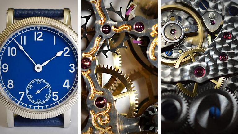 Klockor utformade av urmakerimästaren Philipp Nitzsche