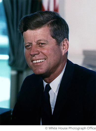 Picture of President John F. Kennedy in the White House - Portrait White House Photograph Office