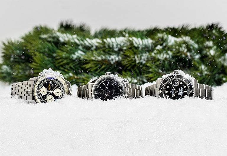 Weihnachten mit Watchmaster Omega Breitling Navitimer und Rolex Submariner