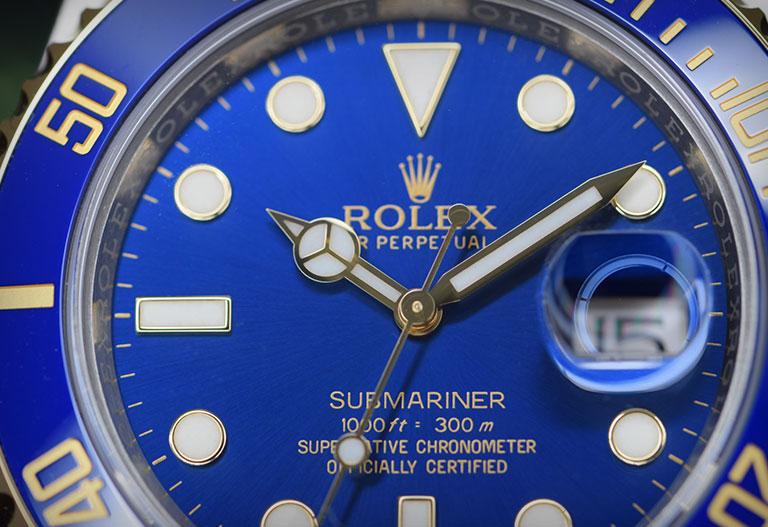 Gros plan sur Rolex Submariner 116613LB