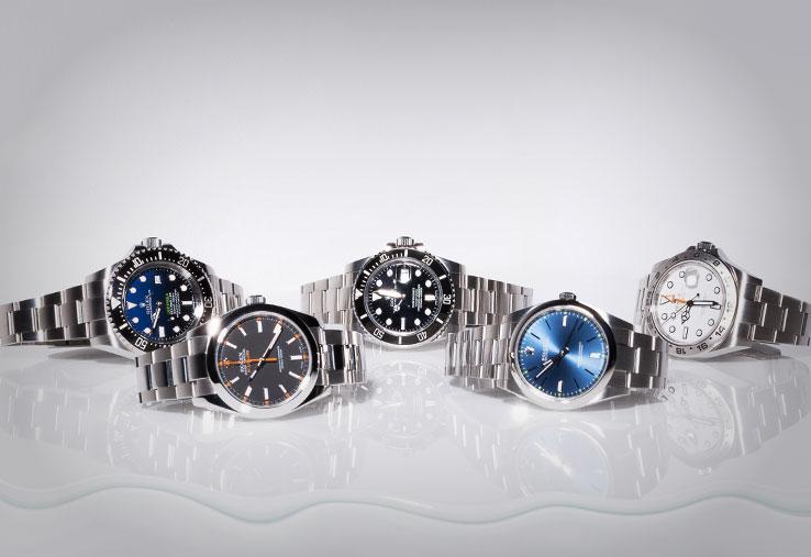 Rolex Deepsea SeaDweller 116660, Rolex Submariner 116610LN, Rolex Milgauss 116400, Rolex Oyster Perpetual 114300, Rolex Explorer II 216570
