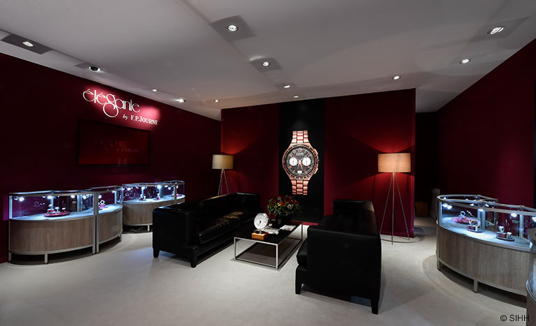 SIHH 2018 Booth èlègante by F.P. Journe