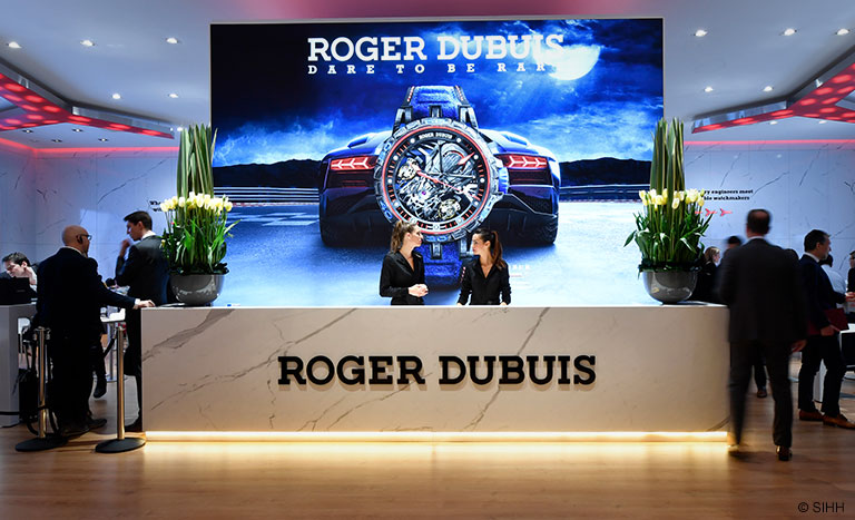 SIHH 2018 - Booth of Roger Dubuis counter