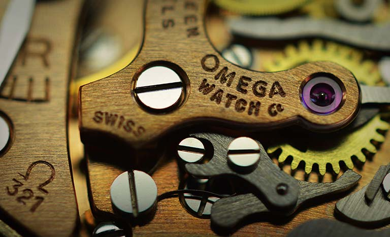 Omega Calibre 321 Jewel Closeup