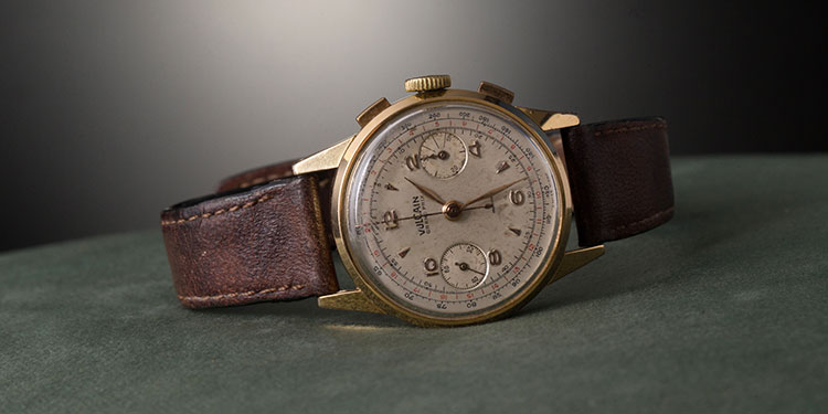 An old Vulcan watch with a leather bracelet