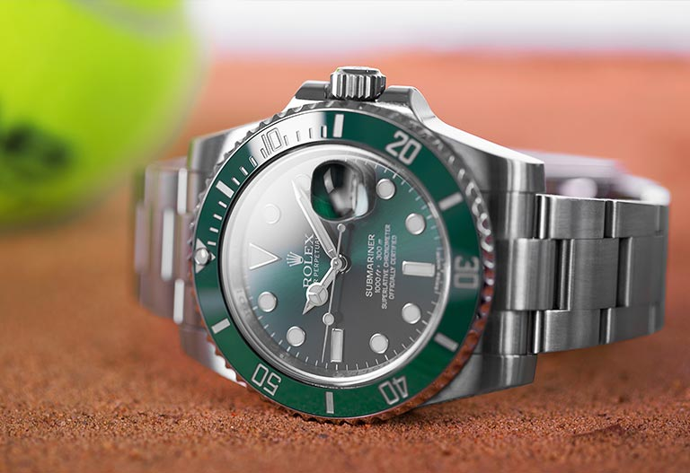 Rolex Sponsoring Tennis Submariner 116610LV Hulk