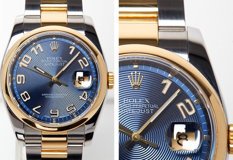 Detalle de la esfera Rolex - Rolex Datejust 116203