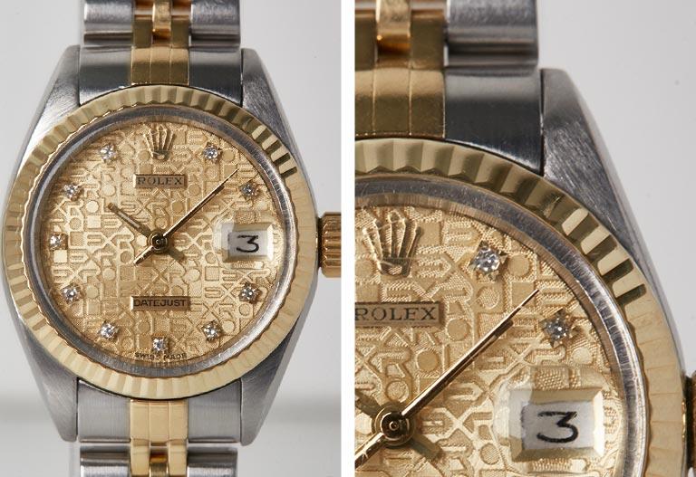 Close up Dial detail - Rolex Lady Datejust 178273