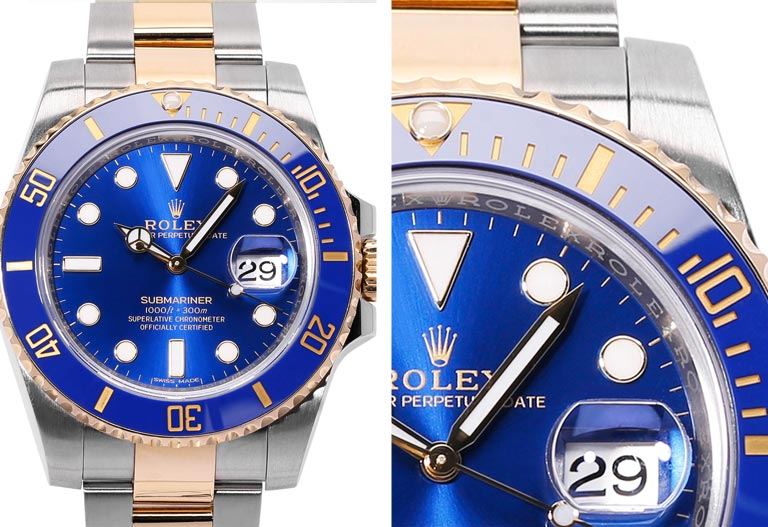 Detalle del cuadrante Rolex - Submariner 116613LB