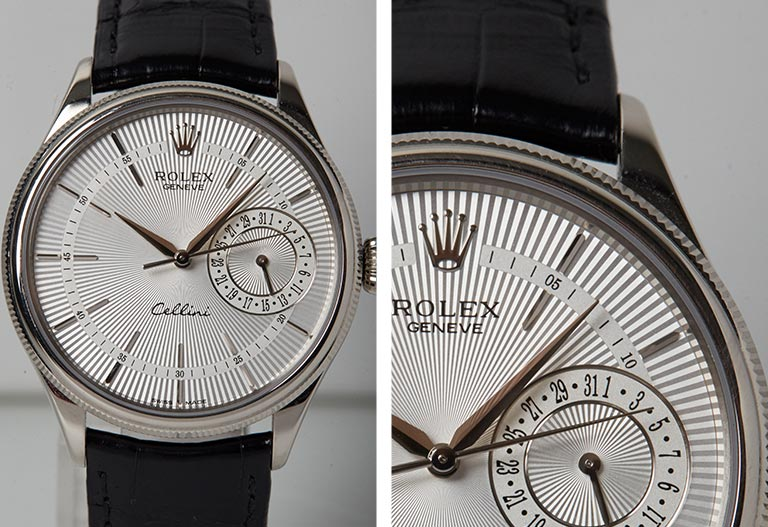 Detalle de la esfera en primer plano Rolex - Cellini 50519