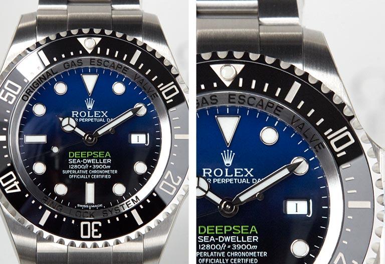 Close up Dial detail Rolex - Deepsea-SeaDweller 116660
