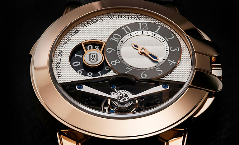 HARRY WINSTON OCEAN TOURBILLON BIGDATE 400/MMTBD45R - Watch with a skeleton dial