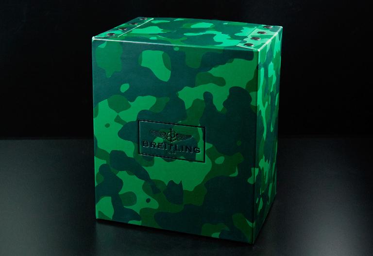 Une boîte Breitling motif militaire