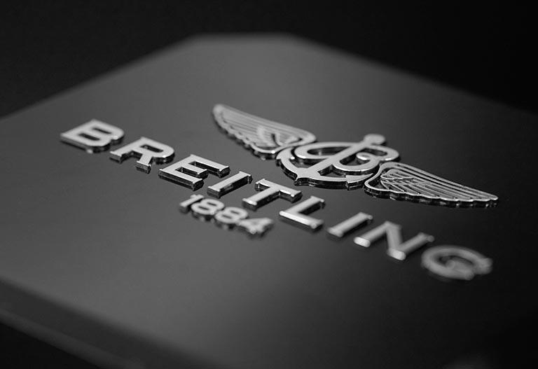Le logo de Breitling de près