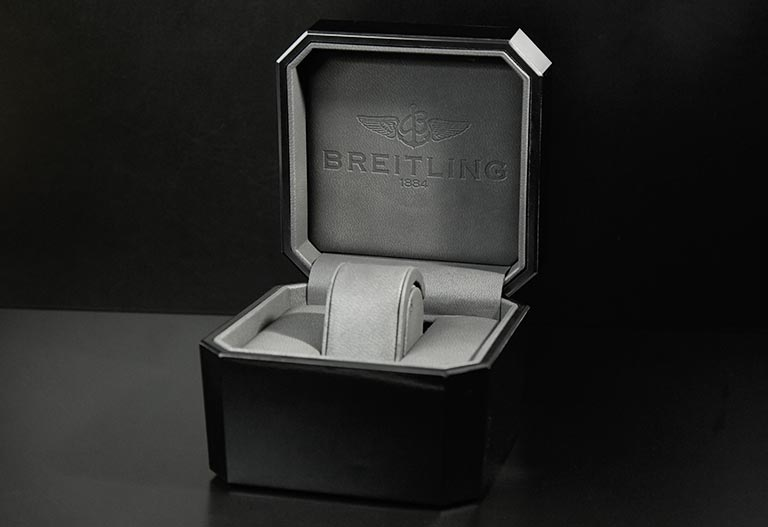 Black Breitling Box that is opened