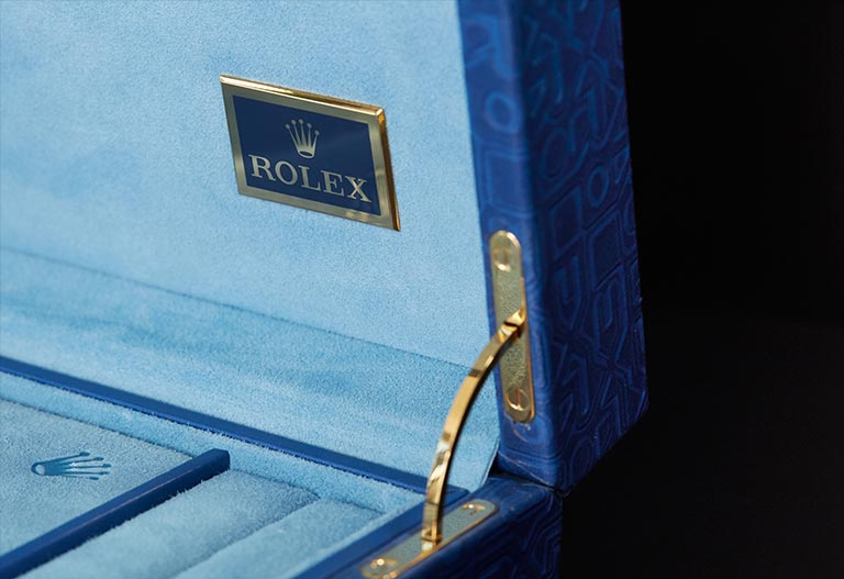 Rolex Boxes leather special box detail