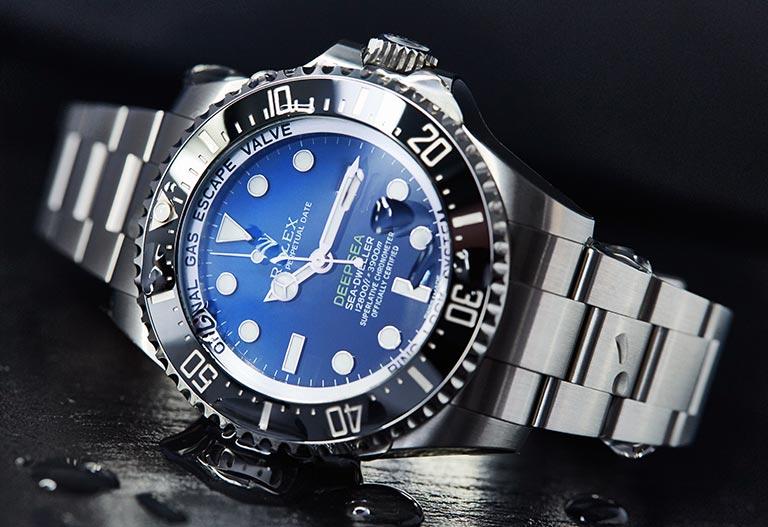 Rolex Deepsea 116660 Cadran dégradé thème eau lunette noire