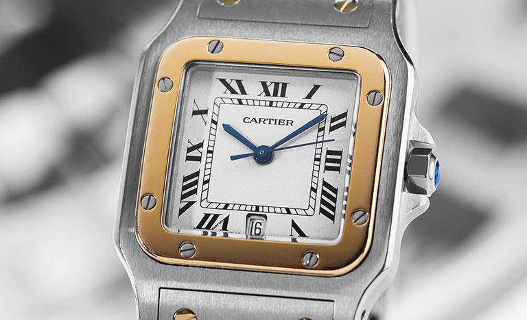 Eine Cartier Santos Uhr