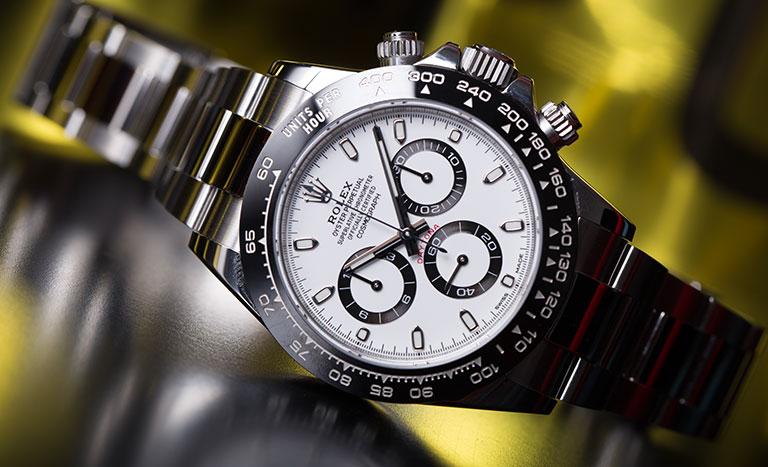 Montre Rolex Daytona 116500LN en acier inoxydable avec cadran blanc et bracelet Oyster