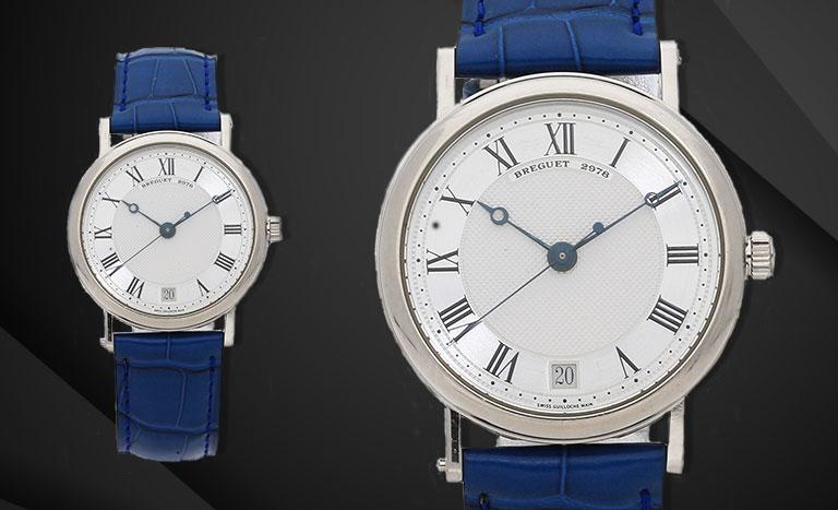 due orologi Breguet classici su sfondo nero
