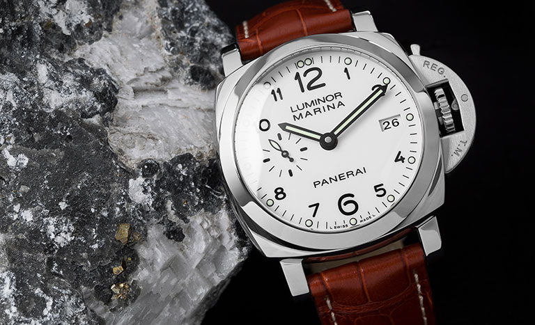 A Panerai Luminor Marina watch ref. PAM00523 with leather strap
