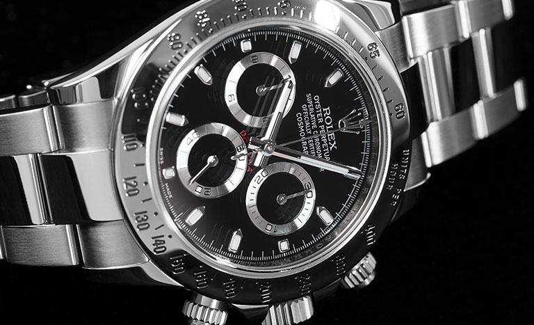 Orologio Rolex Daytona 116520 con fondo nero