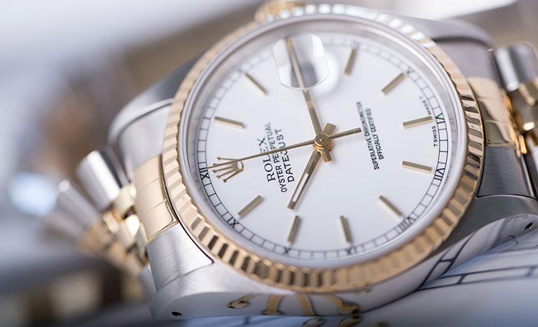 Reloj de mujer Rolex Oyster Perpetual Datejust 16233 con esfera blanca