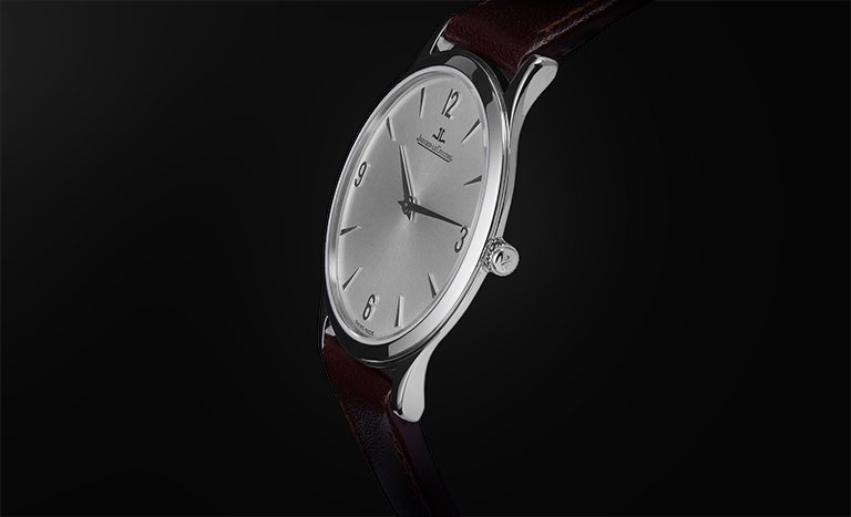 Watch Jaeger-LeCoultre Master Ultra Thin on black background