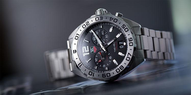 TAG Heuer Formula 1 WAZ111A.BA0875 Stahl-Uhr mit schwarzem Zifferblatt