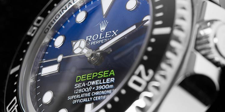 Rolex Sea-Dweller Deepsea D-Blue James Cameron Zifferblatt