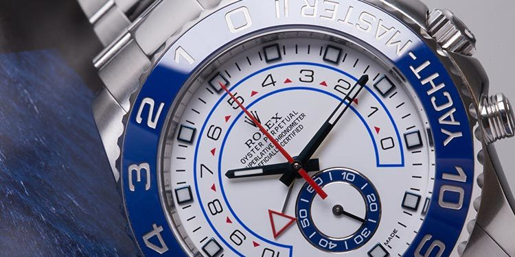 Rolex Yacht-Master 2 reference 116680 dial close