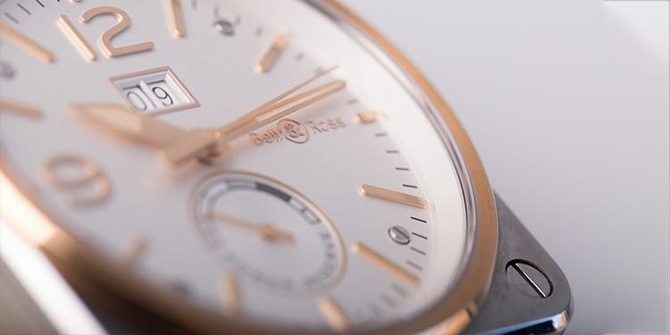 Bell und Ross BR03-90 Steel and Rose Gold close up