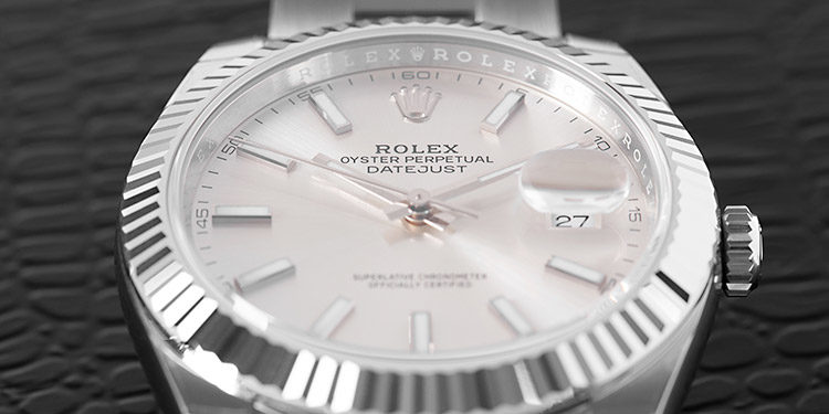 Rolex Datejust 116334 with silver dial