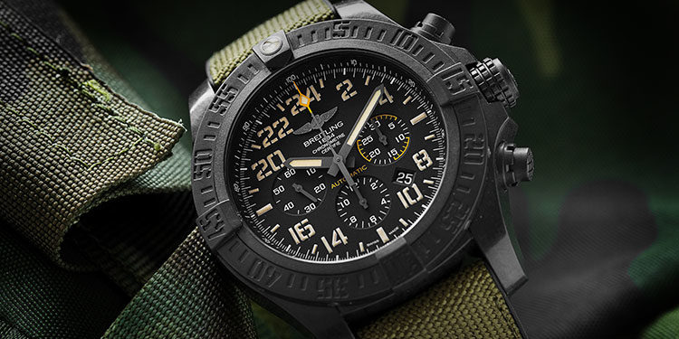 Pre-owned Breitling watch - Breitling Avenger Hurricane Military XB12101A.BF46.283S.X20D.4