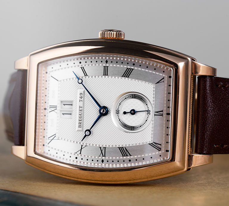 Breguet Heritage 5480BR/12/996 watch with rose gold case and brown crocodile leather strap