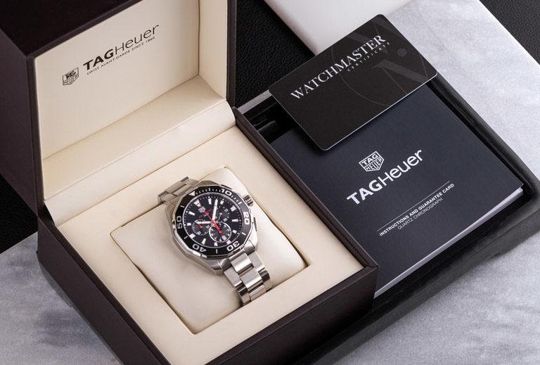 Montre de plongée TAG Heuer Aquaracer CAY111C.BA0927 dans une boîte de montre TAG Heuer avec certificat Watchmaster