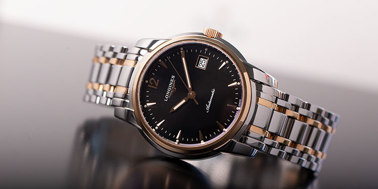 Longines Saint-Imier L27665527 - Bicolor in steel and ros gold black dial