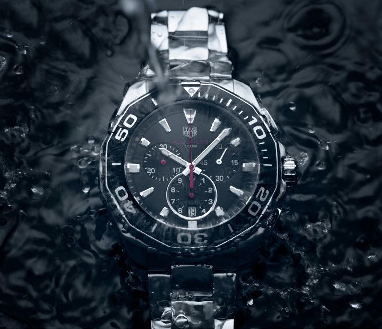 TAG Heuer Aquaracer CAY111C.BA0927 Stahl-Uhr mit schwarzem Zifferblatt unter Wasser