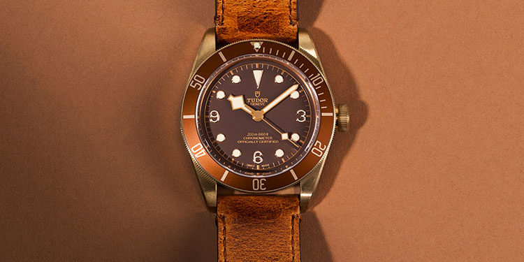 Rolex Tudor - Brown leather strap and dial