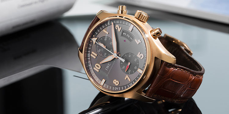 IWC Schaffhausen - Gold with Leather strap