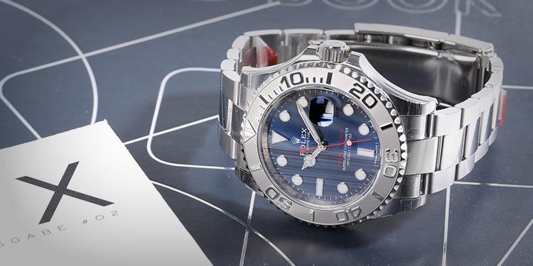 Yacht Master blaues Zifferblatt Stahl Armband