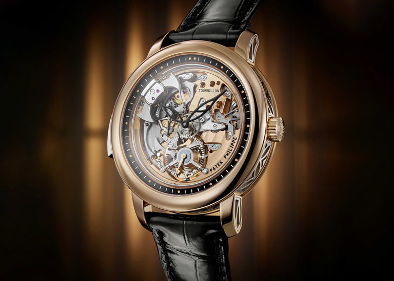 Patek Philippe Grand Complications 5303R watch with skeletonised dial and minute repeater complication