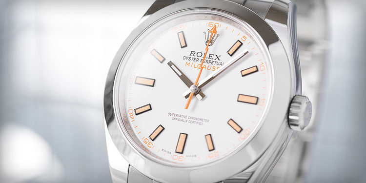 Rolex Milgauss 116400 weisses Zifferblatt